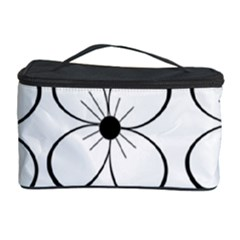 White flowers pattern Cosmetic Storage Case