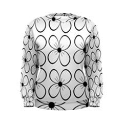 White flowers pattern Women s Sweatshirt