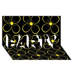 Yellow Flowers Party 3d Greeting Card (8x4)