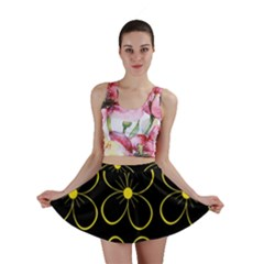 Yellow flowers Mini Skirt