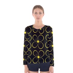 Yellow flowers Women s Long Sleeve Tee