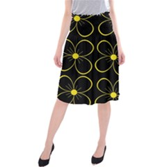 Yellow flowers Midi Beach Skirt