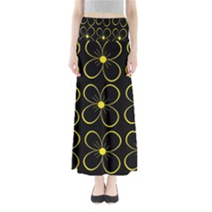 Yellow flowers Maxi Skirts