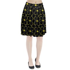 Yellow flowers Pleated Skirt
