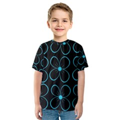 Blue flowers Kid s Sport Mesh Tee
