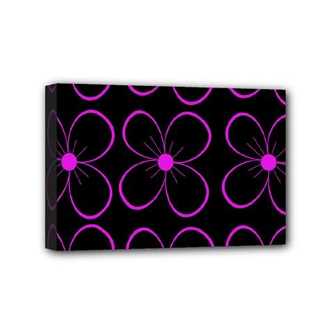 Purple floral pattern Mini Canvas 6  x 4