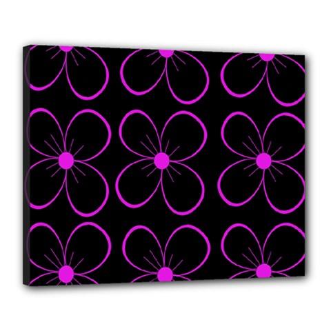 Purple floral pattern Canvas 20  x 16