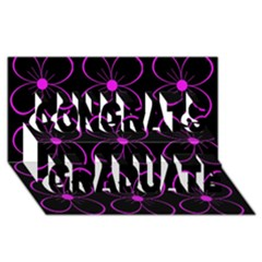 Purple floral pattern Congrats Graduate 3D Greeting Card (8x4)