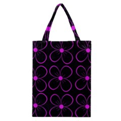 Purple floral pattern Classic Tote Bag