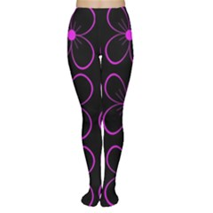 Purple floral pattern Women s Tights