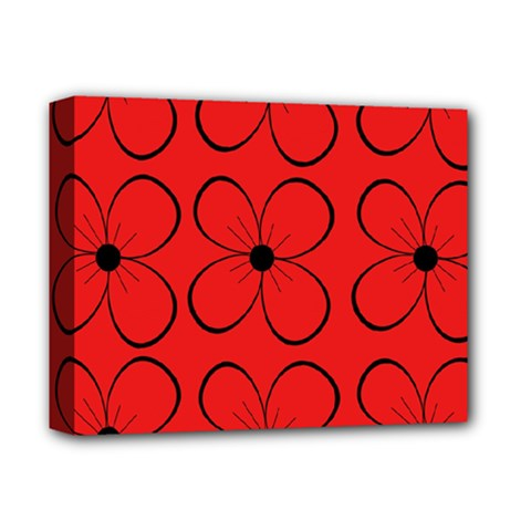 Red floral pattern Deluxe Canvas 14  x 11