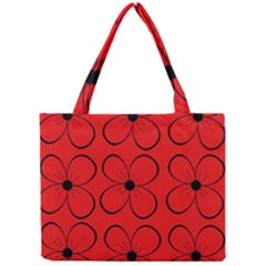 Red floral pattern Mini Tote Bag
