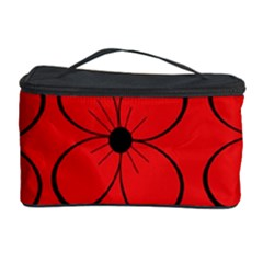 Red floral pattern Cosmetic Storage Case
