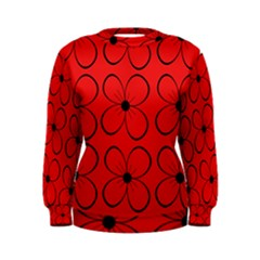 Red floral pattern Women s Sweatshirt
