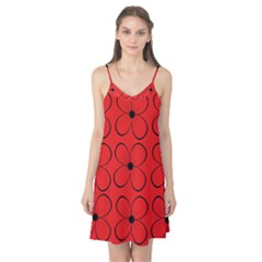 Red floral pattern Camis Nightgown