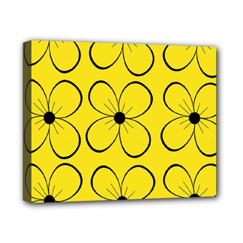 Yellow floral pattern Canvas 10  x 8