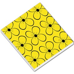 Yellow floral pattern Small Memo Pads