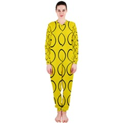 Yellow floral pattern OnePiece Jumpsuit (Ladies)