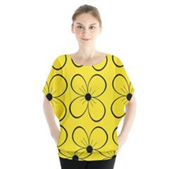 Yellow floral pattern Blouse