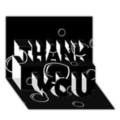 Black and white bubbles THANK YOU 3D Greeting Card (7x5)