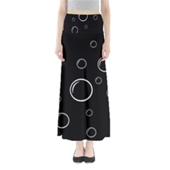 Black and white bubbles Maxi Skirts