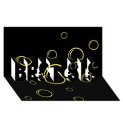 Yellow bubbles BEST SIS 3D Greeting Card (8x4)