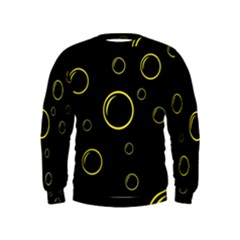Yellow bubbles Kids  Sweatshirt