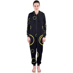 Yellow bubbles Hooded Jumpsuit (Ladies)