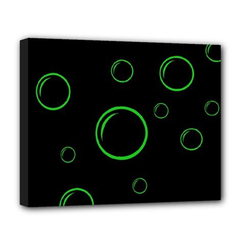 Green buubles pattern Deluxe Canvas 20  x 16