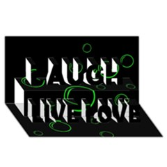 Green buubles pattern Laugh Live Love 3D Greeting Card (8x4)
