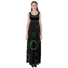 Green buubles pattern Empire Waist Maxi Dress