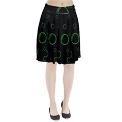 Green Buubles Pattern Pleated Skirt