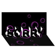 Purple bubbles  SORRY 3D Greeting Card (8x4)
