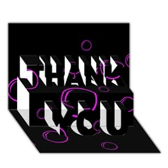 Purple Bubbles  Thank You 3d Greeting Card (7x5)
