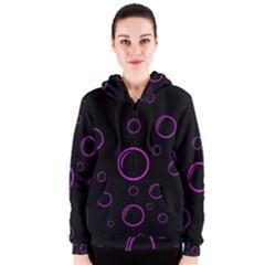 Purple bubbles  Women s Zipper Hoodie