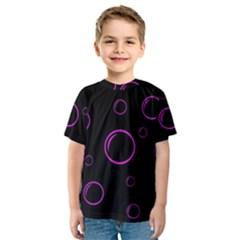 Purple bubbles  Kid s Sport Mesh Tee