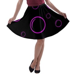 Purple bubbles  A-line Skater Skirt