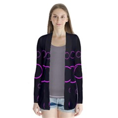 Purple bubbles  Drape Collar Cardigan