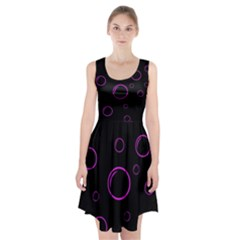Purple bubbles  Racerback Midi Dress