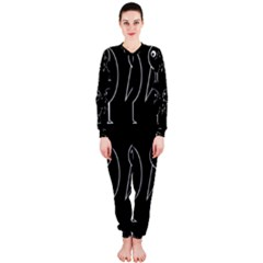 Black and white birds OnePiece Jumpsuit (Ladies)