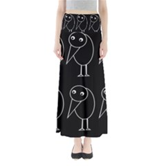 Black And White Birds Maxi Skirts