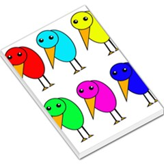 Colorful Birds Large Memo Pads