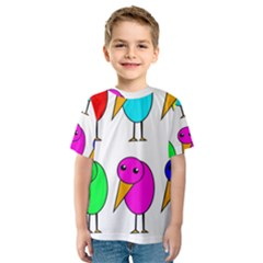 Colorful Birds Kid s Sport Mesh Tee