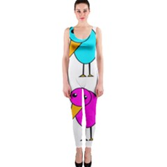Colorful birds OnePiece Catsuit