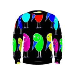 Colorful birds Kids  Sweatshirt