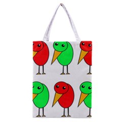 Green and red birds Classic Tote Bag