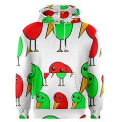 Green and red birds Men s Pullover Hoodie