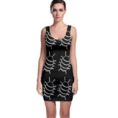 Bugs pattern Sleeveless Bodycon Dress