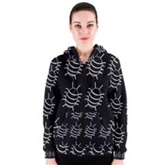 Bugs pattern Women s Zipper Hoodie