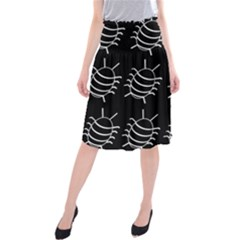 Bugs pattern Midi Beach Skirt
